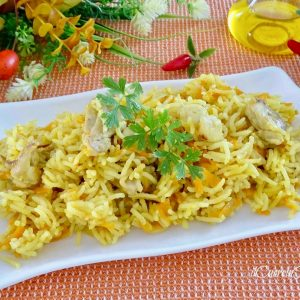 riso basmati con pollo e curry