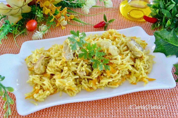 riso basmati con pollo e curry
