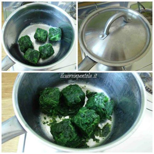 scongelare spinaci velocemente