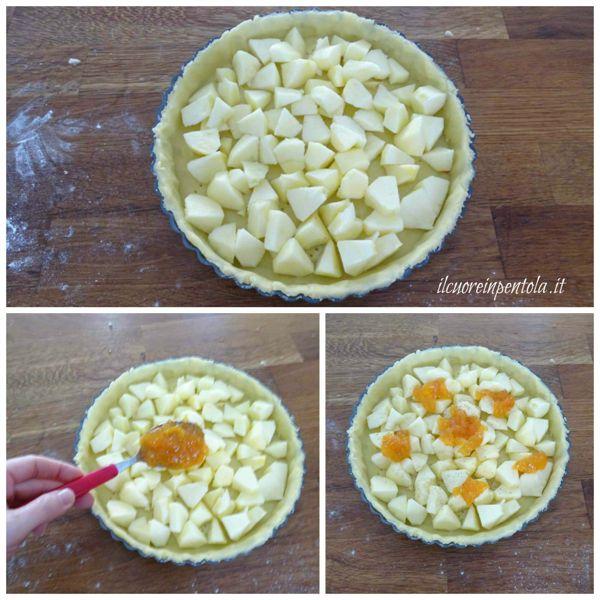 aggiungere mele e marmellata