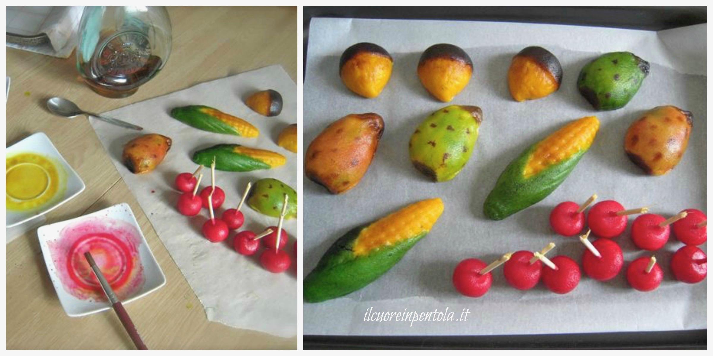 lucidare frutta martorana
