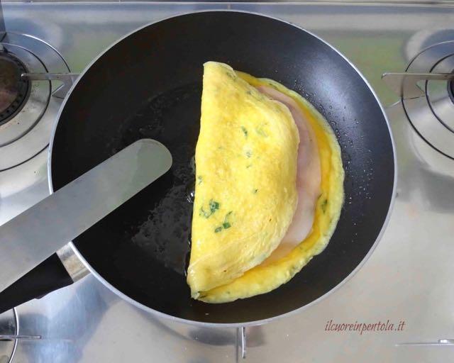 richiudere omelette