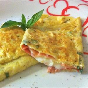 omelette speck e mozzarella