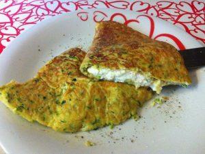 Omelette con zucchine e ricotta