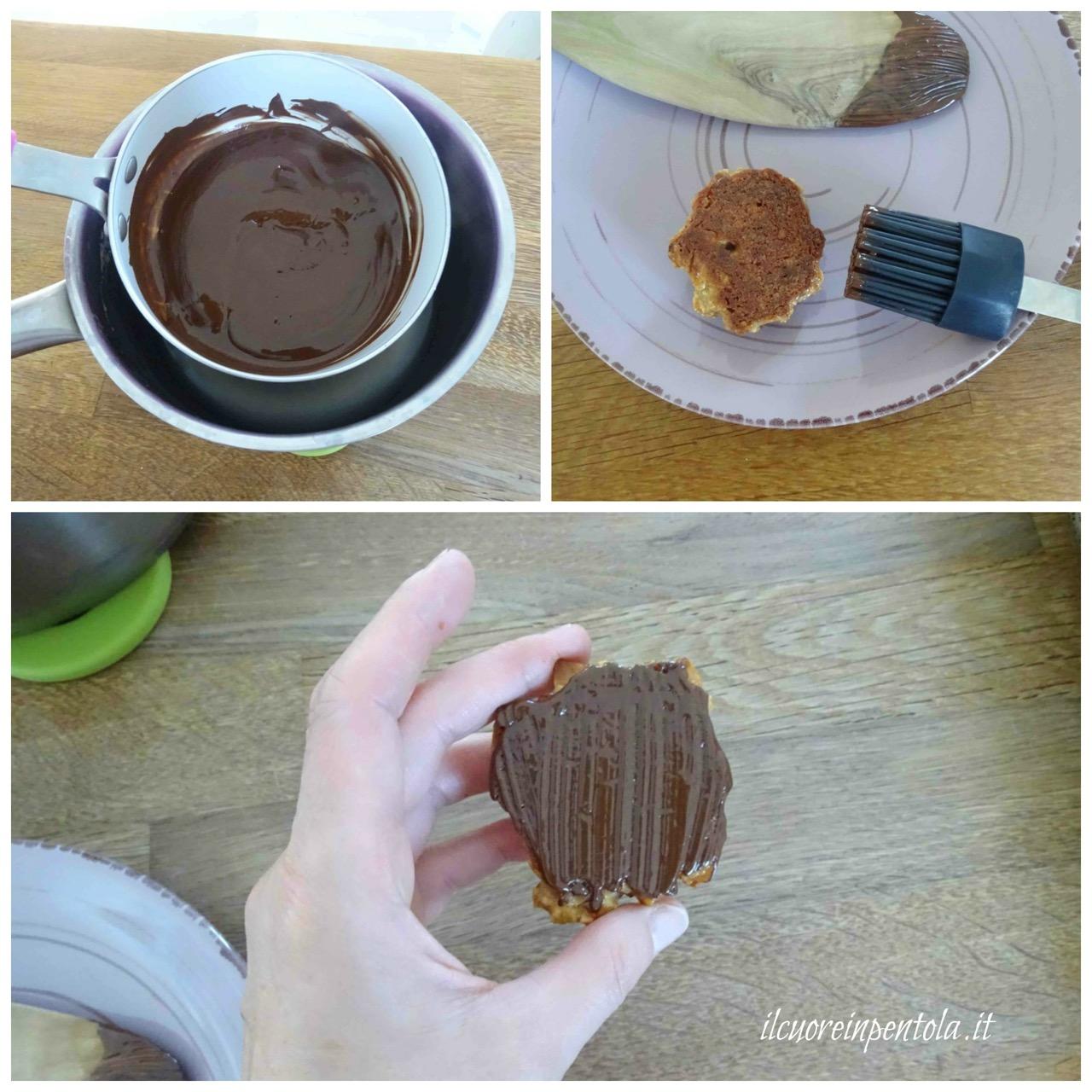spennellare con cioccolato