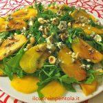 insalata rucola cachi e gorgonzola