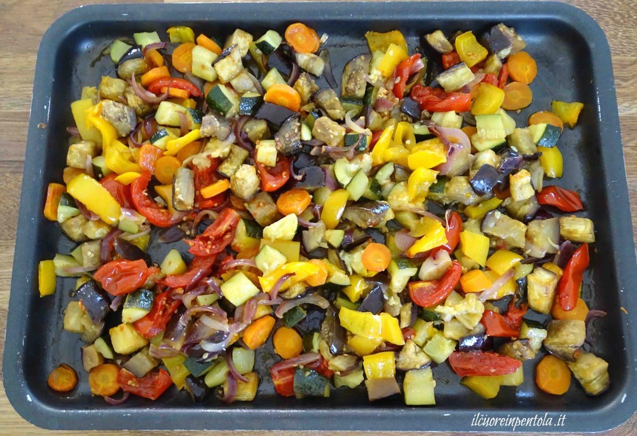 cuocere verdure al forno