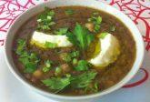Zuppa di legumi con stracchino