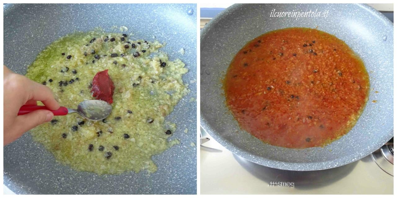 sciogliere estratto di pomodoro