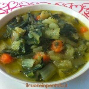 zuppa di patate e bietole