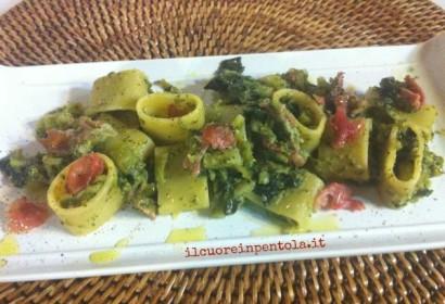 Calamarata broccoli e speck