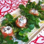 involtini di salmone affumicato e caprino