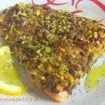 filetto di salmone ai pistacchi