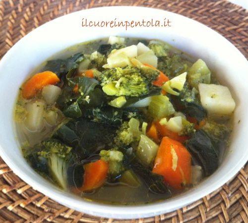 Ricetta Zuppa Broccoli.Zuppa Di Broccoli Il Cuore In Pentola