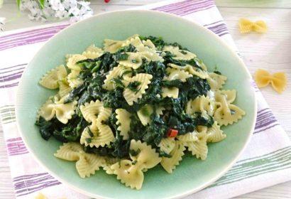 Pasta con gli spinaci
