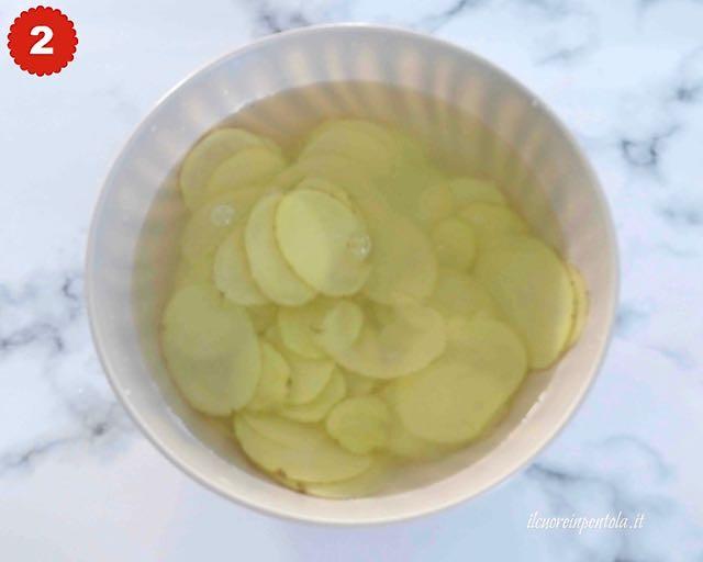sciacquare patate