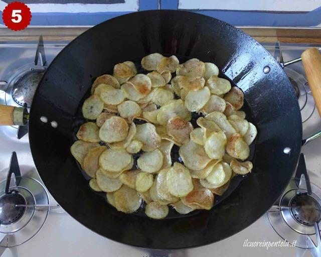 tempi frittura chips