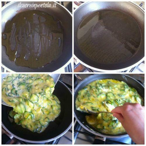 cuocere frittata di zucchine