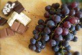 Uva fragola, cioccolato e grappa