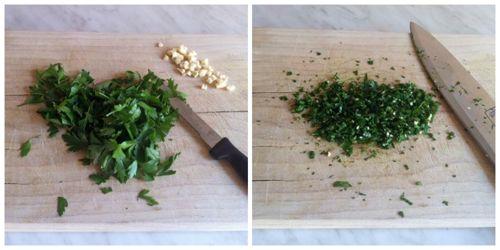 tritare aglio e prezzemolo