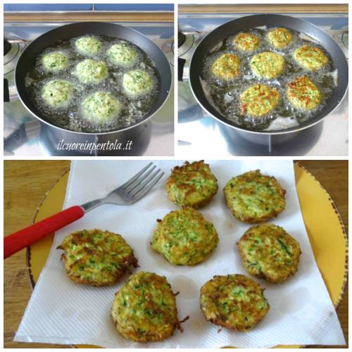 friggere frittelle di zucchine
