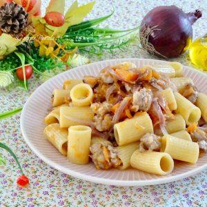 pasta con zucca e salsiccia