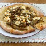 Pizza con carciofi e ricotta
