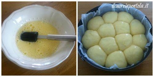 spennellare superficie danubio con uovo