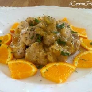 bocconcini di maiale all'arancia