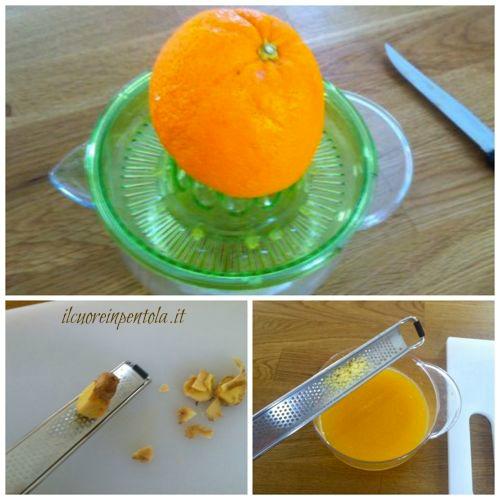 spremere arance e grattugiare zenzero