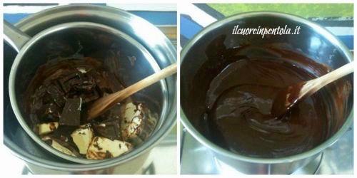 sciogliere cioccolato e burro