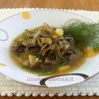 zuppa di carciofi patate e finocchietto
