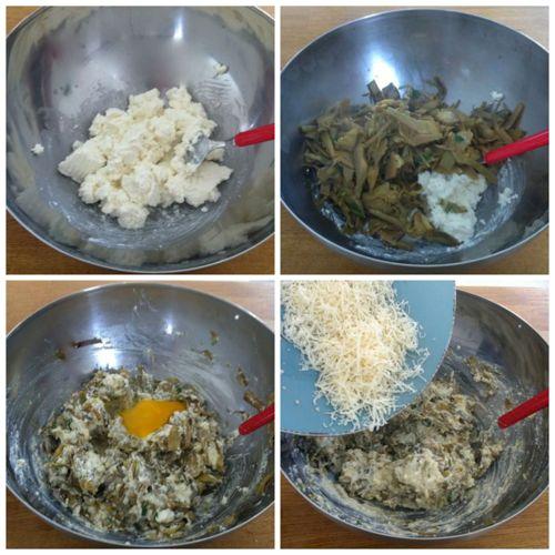 aggiungere ricotta e uova