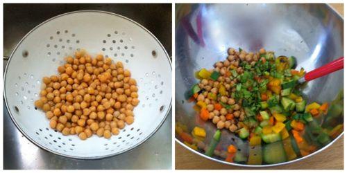 condire insalata ceci e verdure