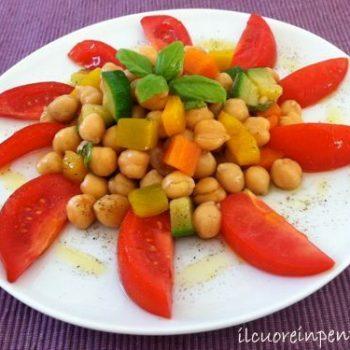 insalata di ceci e verdure