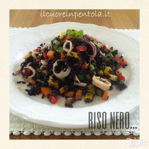insalata di riso venere con calamari