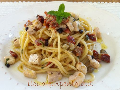 pasta con pesce spada in bianco ricetta