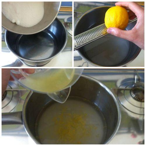 scaldare acqua e succo di limone