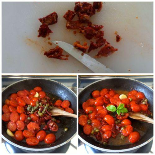 aggiungere pomodori secchi