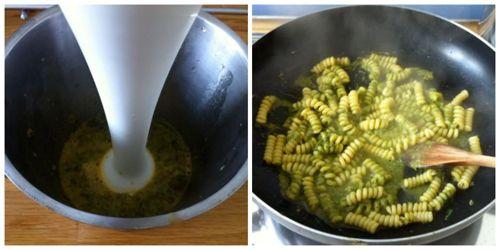 mantecare pasta con sugo di finocchietto
