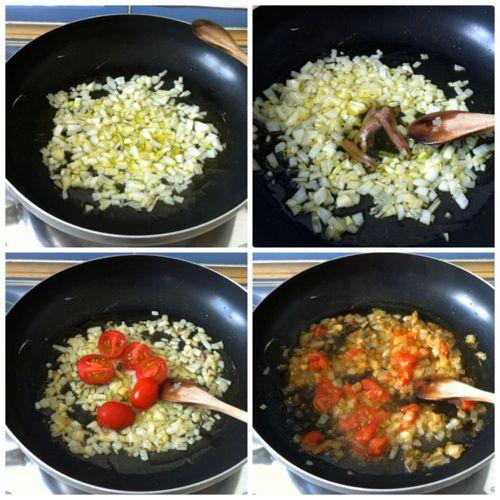 preparare soffritto di cipolla