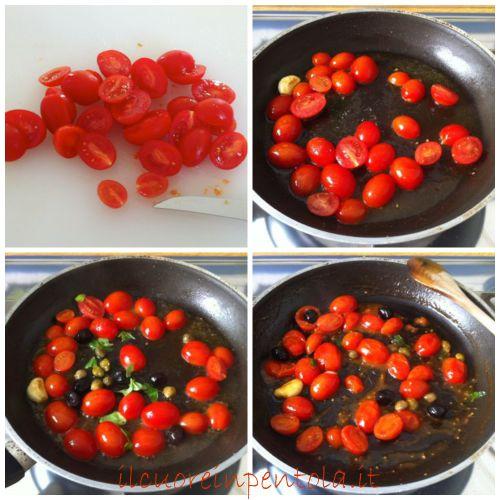 saltare pomodorini in padella