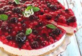 Cheesecake yogurt e frutti di bosco