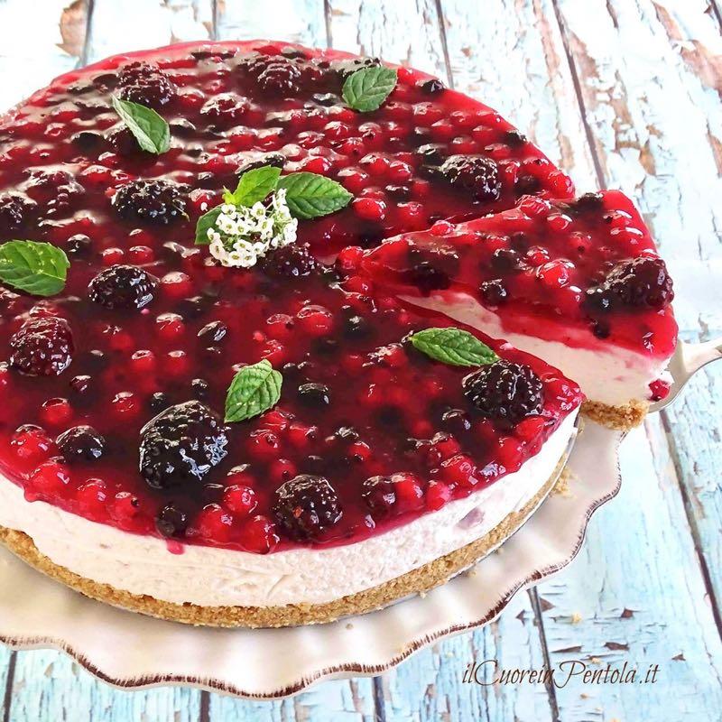 Ricetta Yogurt E Frutti Di Bosco.Cheesecake Yogurt E Frutti Di Bosco Ricetta Con 2 Varianti Di Crema