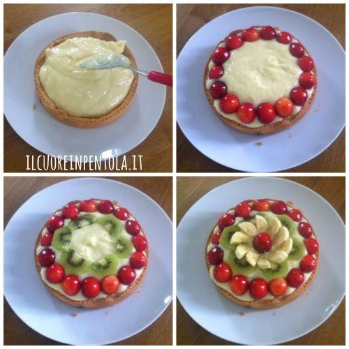farcire e decorare crostata alla frutta