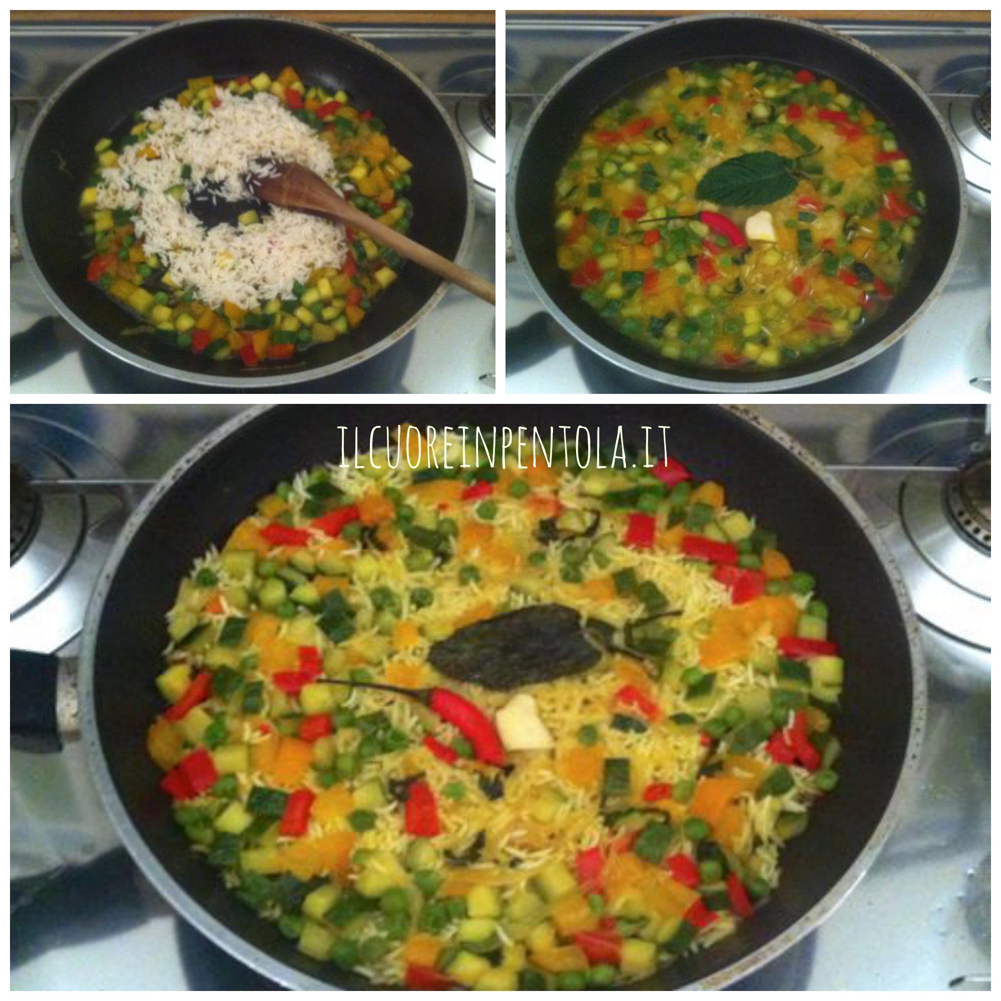 Riso basmati con verdure ricetta il cuore in pentola for Ricette con verdure