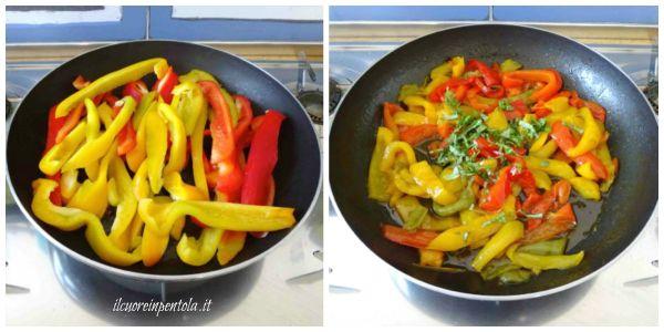 cuocere peperoni in padella