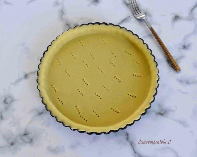foderare stampo con pasta frolla