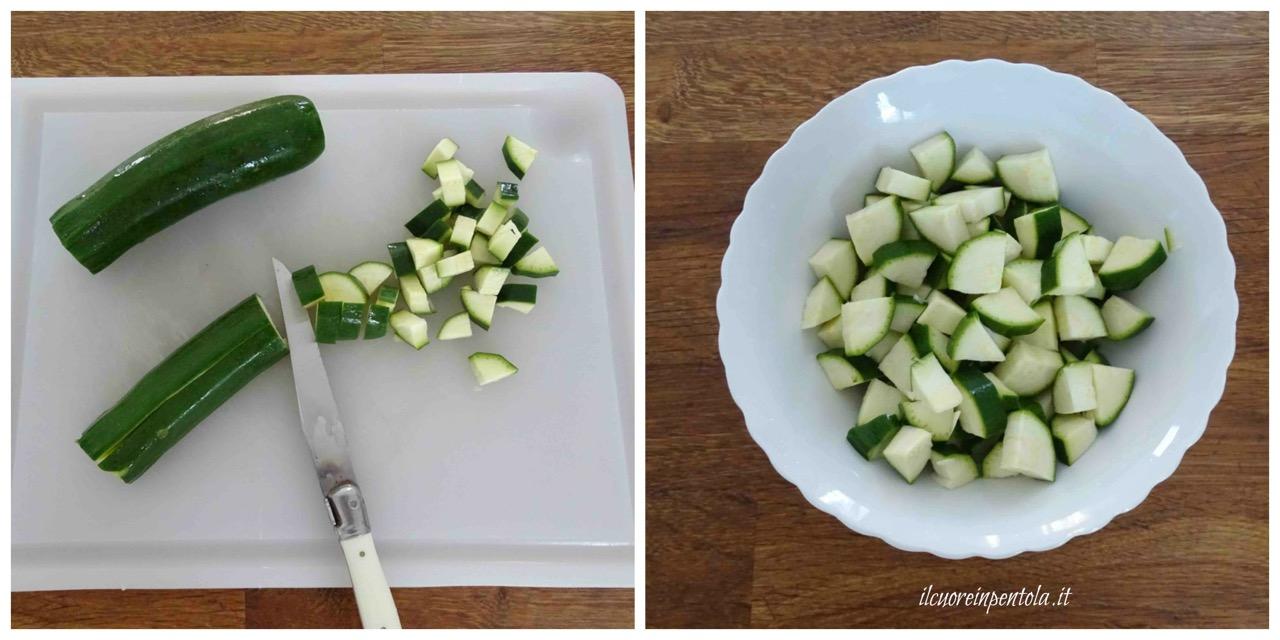 tagliare zucchine