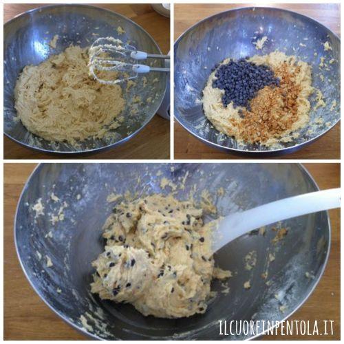 aggiungere arachidi e gocce di cioccolato